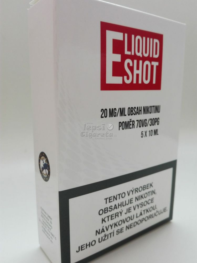 E-liquid Shot 70/30 20 mg booster, 5x10 ml