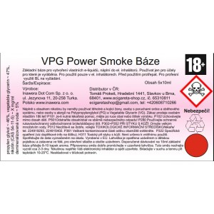 Power Smoke báze 6mg 5x10ml