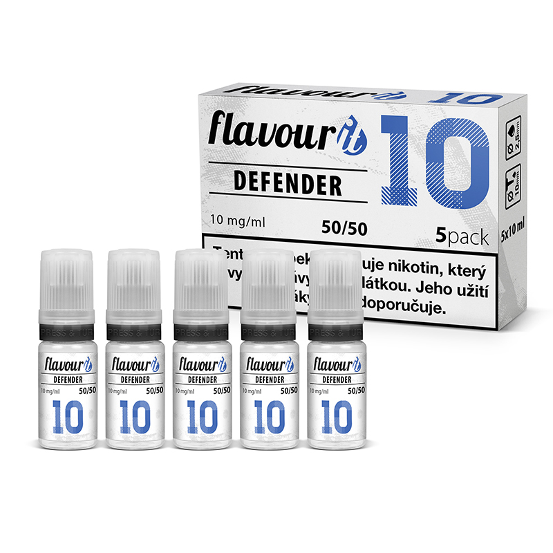 Flavourit DEFENDER 50/50 10 mg, 5x10 ml