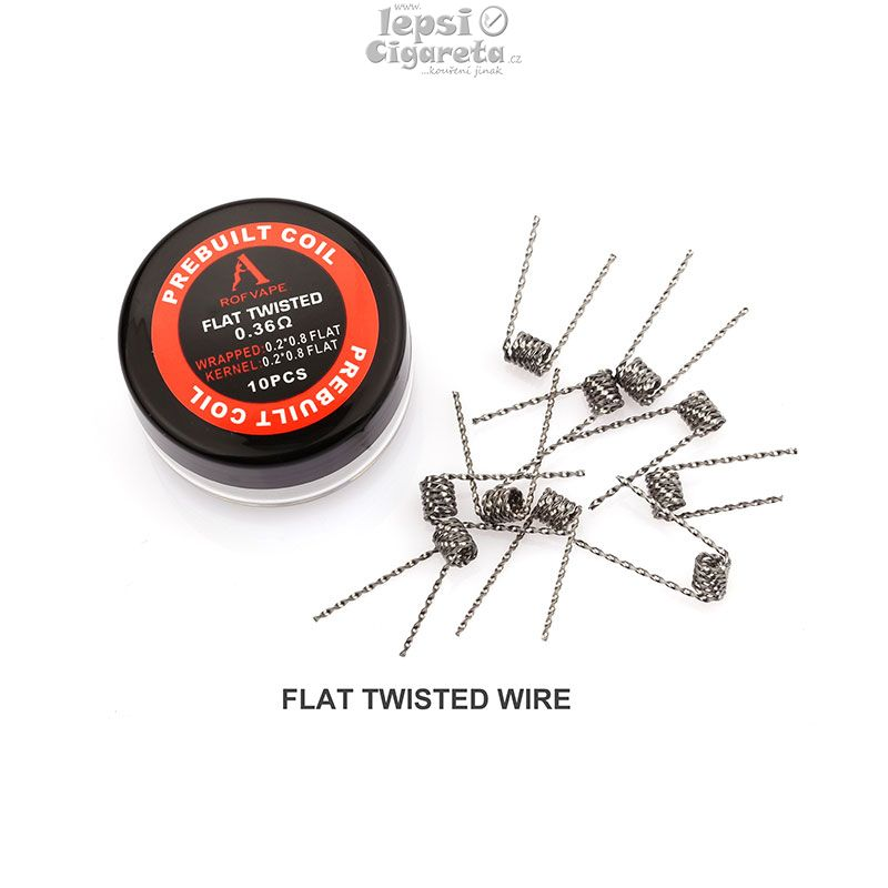 Rofvape Fused Flat Twisted spirály 0.36ohm