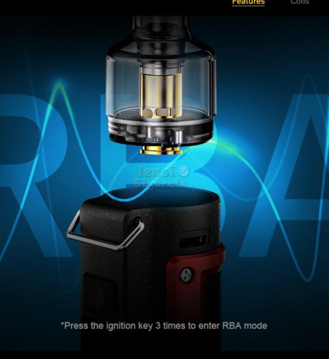VOOPOO Argus Pro 80W grip 3000mAh Kit LITCHI LEATHER AND RED